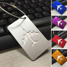 Unisex Aircraft Aluminum Alloy Multi-color Rectangular Luggage Tag  Anti-alias