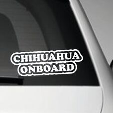 CHIHUAHUA ON BOARD LONG SELF ADHESIVE VINYL CAR DECAL GRAPHIC STICKER PET DOG