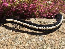Browband Beautiful Crystal and Pearl Brow Band -  Full, Cob , Pony