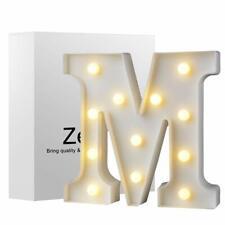 LED Marquee Letter Lights Sign, Warm White LED Letter Light Up Alphabet Letter L