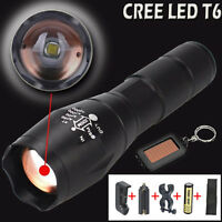 Police LED Flashlight Tactical G700 X800 5000LM XML-T6 18650 Zoomable Torch Lamp