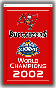 Tampa Bay Buccaneers Football Champion 2002 Flag 90x150cm 3x5ft Fan Best Banner