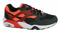 Puma R698 Progressive Lace Up Black Orange Mens Textile Trainers 362046 01 X44B