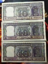 10 RUPEES DIAMOND ISSUE NOTE: SIGNED GOV. P C BHATTACHARYA D-9 YEAR 1967