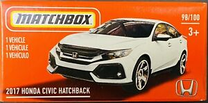 Matchbox 2017 Honda Civic Hatchback White 2021 New Release