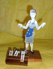 Paris Newspaper Femme High Heels News Gal Polka Dot Apron Metal Art Figurine