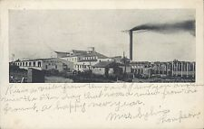 POSTCARD  W.R. Roach canning co.  Hart Michigan Stamp 1907  PO Hand stamp