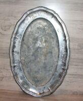 Vintage metal platter serving tray