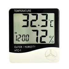 Digital LCD Indoor Home Thermometer Hygrometer Temperature Humidity Meter Clock