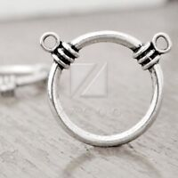 100pcs Tibetan Silver Connector Links For Charm Pendant 14x14x2mm Free Shipping