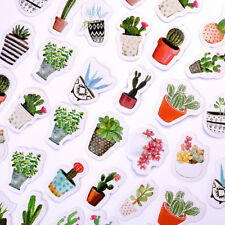 45 pcs/pack Pot Cultured Green Plants Label Stickers DIY Diary Album Stick Label