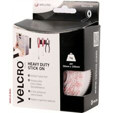 Velcro Heavy Duty Stick On Tape Adhesive Roll White 50mm x 5m