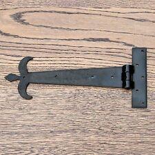 12 in (ca. 30.48 cm) COPPIA CERNIERE A T A T Cerniera Cinghia Cerniera Nero Vintage ferro battuto FDL