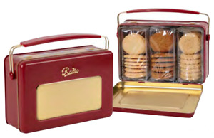 Vintage Marque Biscuits in Red Radio Tin