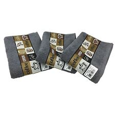 New Riggs Set Of 3 Cafe Cafe Kitchen Tea Towel, 50cm x 65cm, 100% Cotton Grey