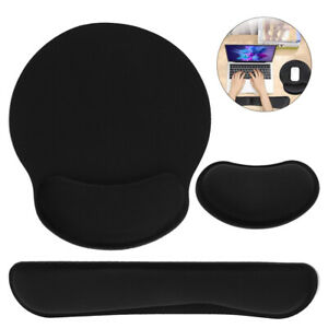 Smooth Ergonomic Mouse Mat Wrist Rest Memory Foam Keyboard Pad For PC Laptop