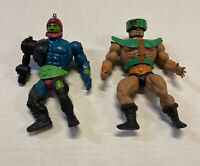 2 LOT VIntage 1981 Masters of Universe MOTU Mattel Toy Action Figures Free Shipg