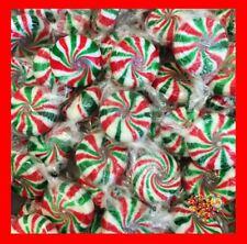CHRISTMAS LOLLIES RED GREEN  STARLIGHTS XMAS PINWHEELS 1KG 165CT STARLITES