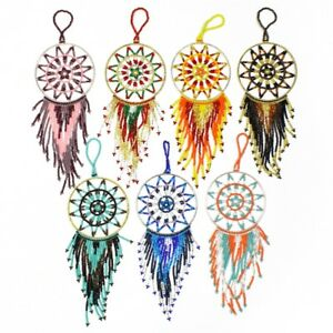 OR209 Two Set Star Motif Dream Catcher Crystal Christmas Holiday Tree Ornament