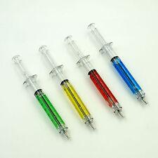 Syringe Pens Plastic Ball Point Pen School Office Nurse Doctor Gift Pack x 4