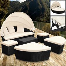 Polyrattan Sonneninsel Gartenliege Sonnenliege Lounge Sitzgruppe Gartenmöbel Set