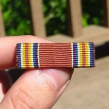 WW2 US Army Military Victory Medal Ribbon Bar British Made