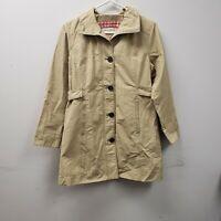 Womens  Eddie Bauer Coat Size PXS X-Small Cream Jacket Cotton Nylon Polyester li
