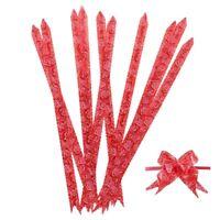 Cinta de lazo rojo envoltura de regalo de decoracion de Navidad impresion d W6O4