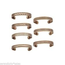 """Lot 7 COPPER MAGNETIC Bracelet Cuff w/""""Therapy""""  Magnet  Arthritis ~ 7 Different"""