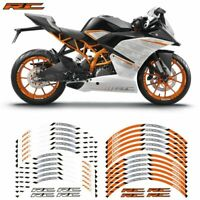 12X 17inch Motorcycle front and rear wheels Edge Outer Rim Sticker For KTM RC