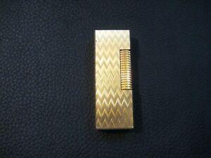 Dunhill Rollagas Feuerzeug Lighter Gold Komplett Überholt Kingsman