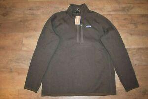 Patagonia Men's Better Sweater 1/4 Zip 25523 Size Large (Logwood Brown) NWT
