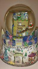Big Brown Bag BLOOMINGDALES Musical Snow Globe Light Up Christmas Twin Towers