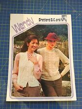 Wendy Shetland Double Knitting and 4 Ply Pattern Lady's Waistcoat & Sweater 2071