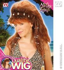Ladies Brown Cavewoman Wig Includes Headband Betty Wilma Flintstone Fancy Dress