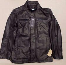 Trapper chaqueta de hombre de cuero de cordero > BNWT > £ 285+ > Genuino Negro > > > Motorista Abrigo > 50 > de Napa