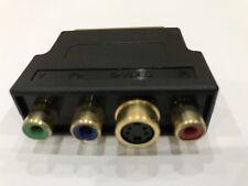 Scart Stecker Vergoldet auf 3x RGB ( rot / grün / blau ) Buchse S-Video Adapter