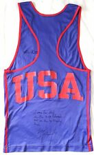 1994-96 Floyd Mayweather Jr. carrera amateur Usado & firmado EE. UU. Chaleco boxing