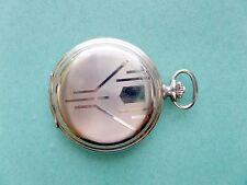 Vintage ART DECO 20mcr. Gold Plated Favor Hunting Pocket watch . Working