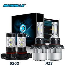 Combo Pack H13 9008 LED Headlight+5202 Fog Light Bulbs for 2008-2012 Ford Escape