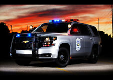 """2015 CHEVROLET TAHOE POLICE CONCEPT A1 CANVAS PRINT POSTER FRAMED 33.1""""x23.4"""""""