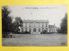 cpa Ecrite en 1912 Vue de façe du CHÂTEAU de MARCQ en BAROEUL (Nord) Castle Burg