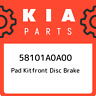 58101A0A00 Kia Pad kitfront disc brake 58101A0A00, New Genuine OEM Part
