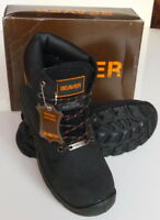 Safety shoes, Mens Work boots Beaver high safety boots, Black 910, S3 UK 7 to 13