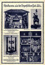 Spielwaren aus der Urgroßelternzeit Nürnberger Puppenküche Karussel Thüri...1925