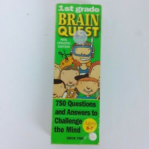 Brain Quest Grade 1st Grade Ages 6-7 Deck Two Used
