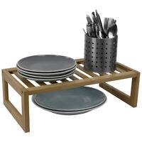 "9"" x 17"" Bamboo Helper Shelf Shelves Kitchen Storage Organizer Natural EBY60308"