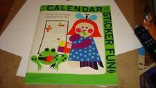 "Vintage ""Calendar Sticker Fun"" 1965 Unused Whitman Publishing ""Rare"""