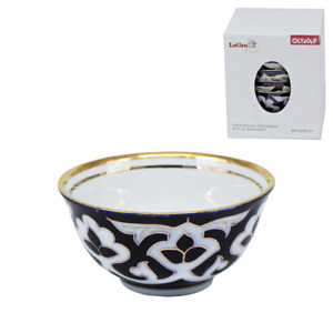 "6 St. Piala-Set Tee-Set Müslischale ""Pachta Gül"" weiß-blau-gold Keramik 11cm"
