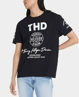 Tommy Hilfiger Mens Black Size Large L Signature THD Inline Graphic Tee $39 021